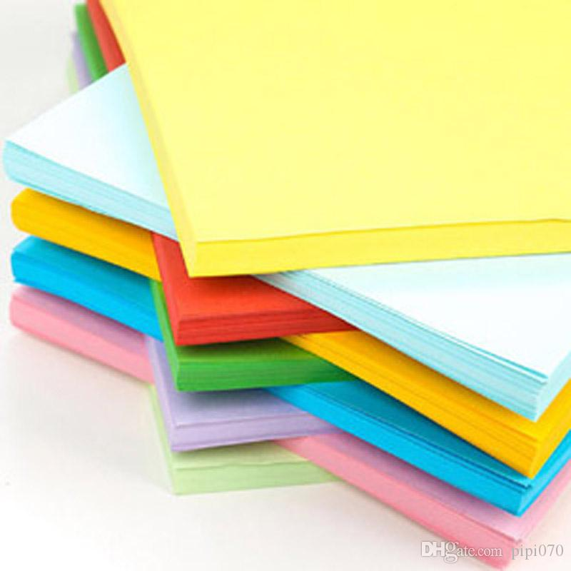 10 colors A4 paper 70g handmade DIY color origami 100 sheets of double-sided copy printing paper A4 mixed color children creative origami