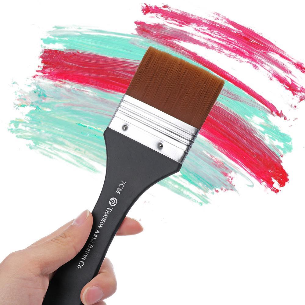 Acrylic Graffiti Oil Painting Brush Set Watercolor Pen White Handle Nylon Hair