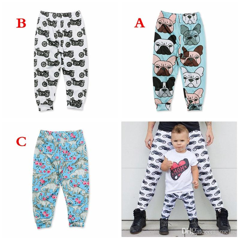 girls leggings girls pants leggings girl icing pants toddler girl leggings KIDS DINOSAUR DOG Motorcycle FULL PRINT PANTS
