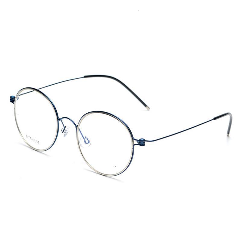 جولة الرجعية النقي التيتانيوم النظارات الإطار للرجال والنساء لا برغي نظارات سيدة النظارات نظارات القراءة Oculos