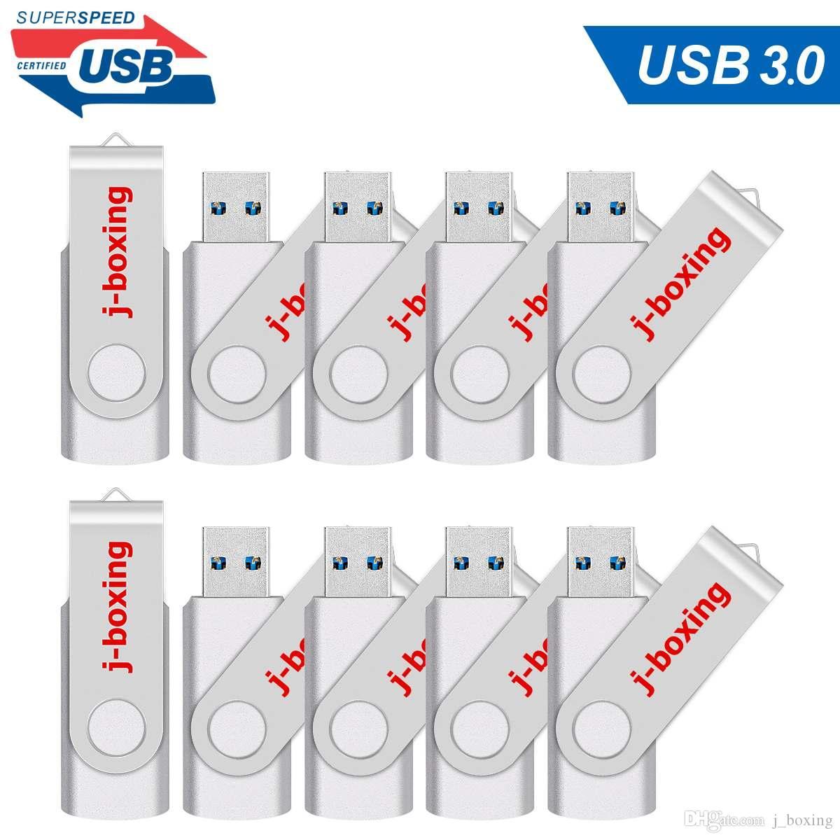 10 Paketi Gümüş 32GB USB 3.0 Flash Sürücüler Bilgisayar Macbook Tablet Dizüstü yeter Kalem Sürücü 32GB Thumb Depolama Flaş Bellek Çubuğu U Disk