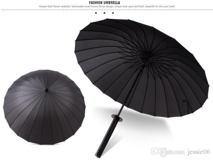 Ombrello a manico lungo ombrello maschio e femmina a spada dritta Ombrello samurai giapponese 24bone bambino pongee caldo