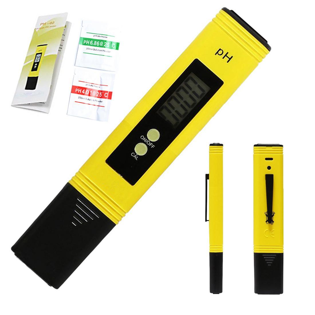 Digital LCD PH Meter Pen of Tester Accuracy 0.1 Aquarium Pool Water Wine Urine Automatic Calibration