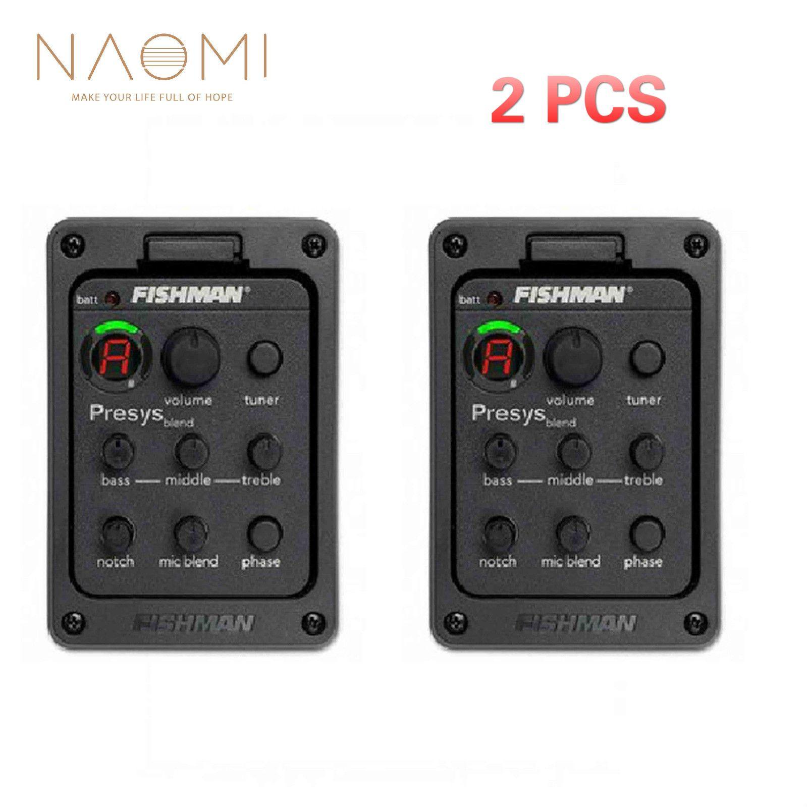 NAOMI 2 Pcs Fishman Presys 301 Mic Blend Dual Model Guitar Preamp EQ Tuner Piezo Pickup Beat Guitar Parts Accessories New