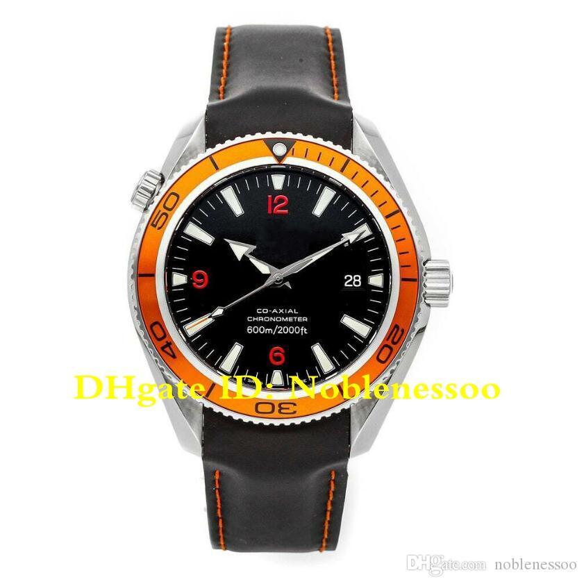 8 Style Men's 600m Black Orange Bezel 2909.50.82 Planet Ocean Co-Axial James Bond 007 Rubber Bands Automatic Mens Watch Watches