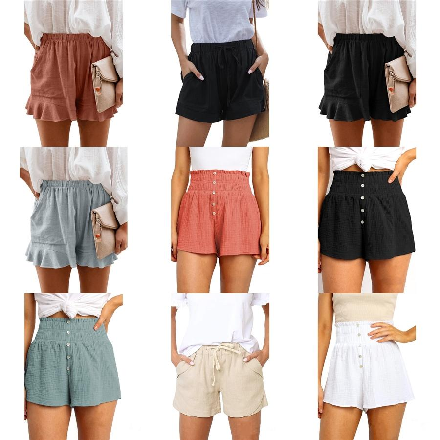 Womens Casual Camo Shorts Combat Short Pants Army Cargo Work Trousers High Waist Elastic Waist Pocket Knee Length Shorts #776