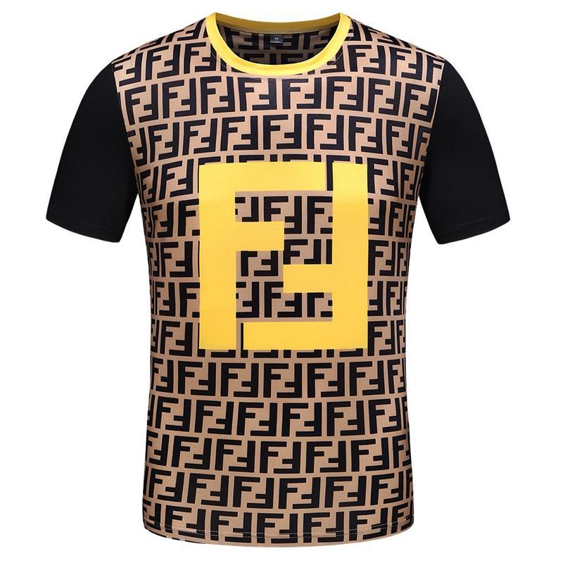 19 SS Новые мужские футболки, мужские Дизайнерская Повседневная рубашка, Magma Printed высокого качества Дизайн хлопок футболки, размер M-3XL Z1