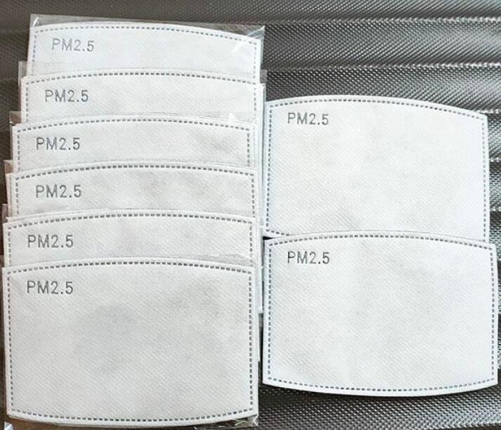 DHL مجاني 2PCS / الكثير 5 طبقات فلتر الكربون المنشط PM2.5 مكافحة بالضباب الفم أقنعة المرشحات للاستبدال لتنشيط الكربون قناع استخدام