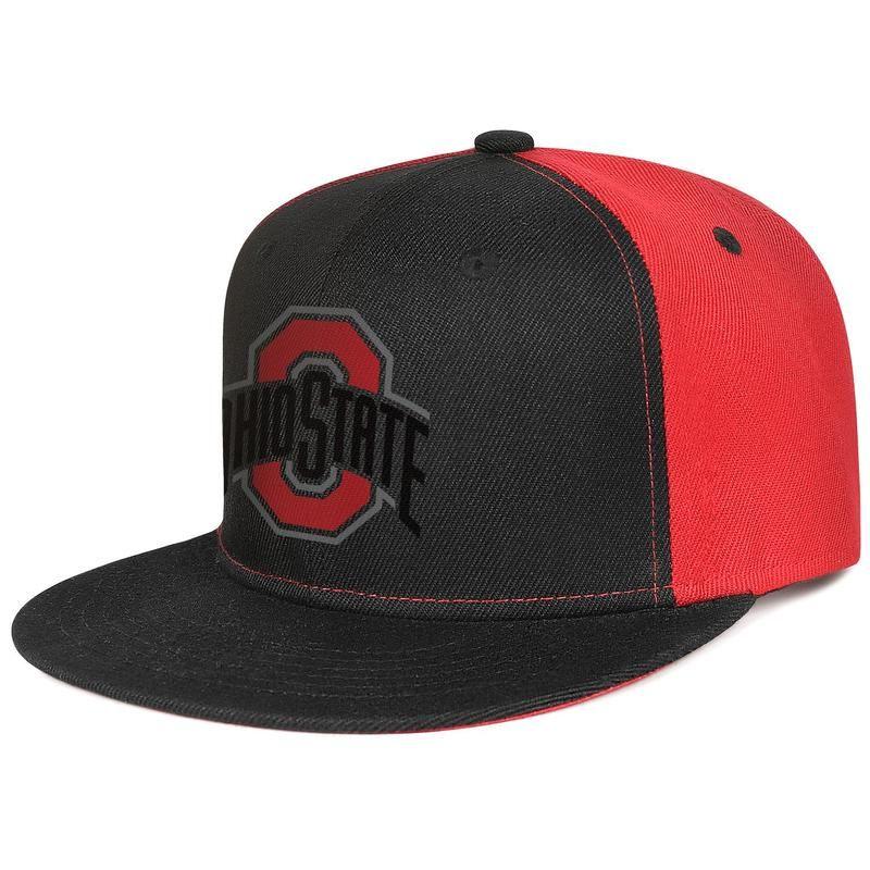 Штата Огайо штата Огайо основной логотип команды для мужчин и женщин повернет вспять baseballcap холодный пустой хип Hopflat brimhats спорт футбол 388 черный