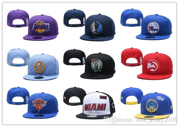 2019 البيسبول جديد قبعات التطريز قابل للتعديل الهيب هوب SNAPBACKS شقة قبعة فريق الرياضي وجودة عالية للرجال والنساء قبعة كرة السلة مجانا