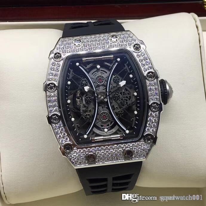 Meilleure édition RM 53-01 Pablo Mac Donough cas de diamant creux en acier inoxydable Cadran Miyota montre mécanique RM53-01 luxe Montre homme