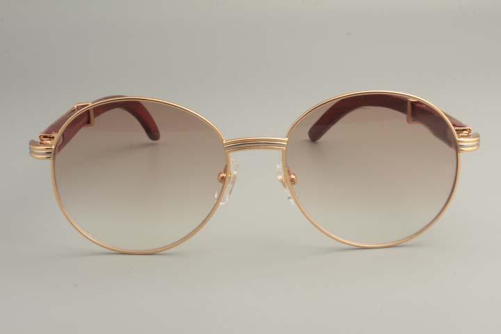 Sonnenbrille, Versand Runde 19900692-1 Mode Holzfreie Neue Retro 2019 Sonnenblende, Natürliche Sonnenbrille-Tempel Sonnenbrille Xusil
