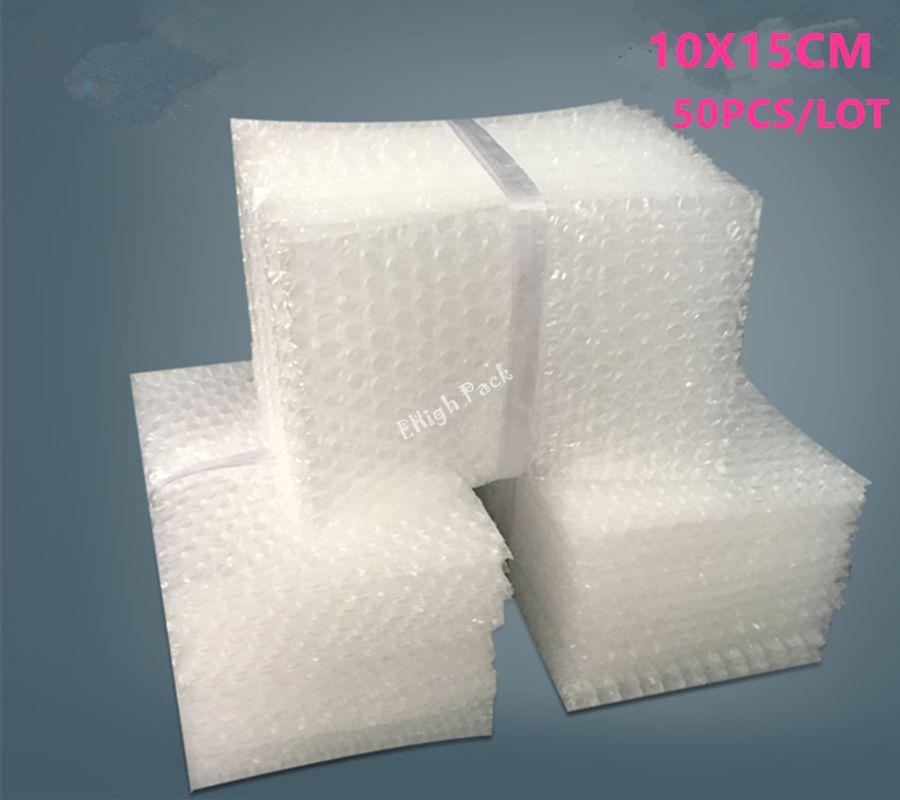 10 * 15 cm 50 adet 10mm Polietileno malzeme De Embalaje kabarcık koruyucu çanta Wrap Craft Embalajes Burbujas mailler çanta