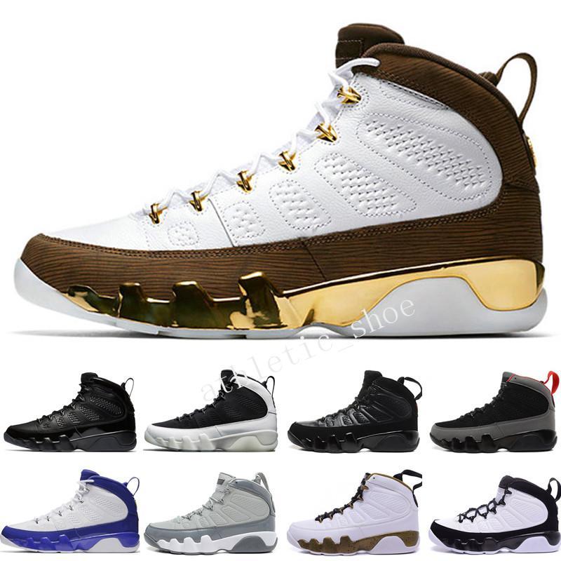 9 9s Chaussures de basket-ball LA Bredred OG Space Jam Anthracite Lakers PE The Spirit Cool Gris Noir Blanc 2010 Sortie Tout Noir Sports
