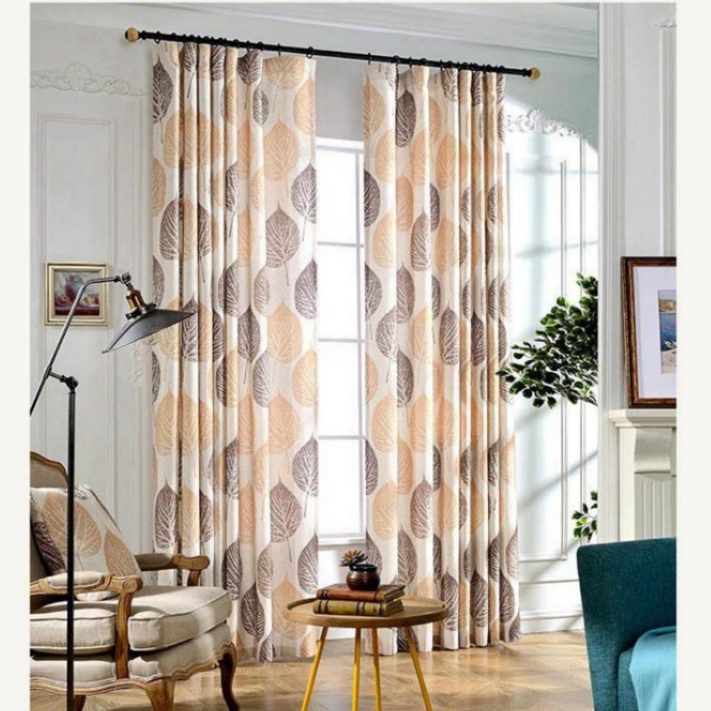 2019 High Quality Yellow Leaves Printed Faux Linen Curtains For The Bedroom  Windows Drapes Fabric For Living Room Curtains From Galry, $29.63 | ...