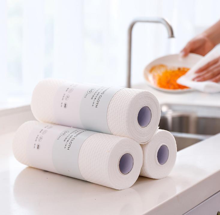 Cozinha preguiçoso panos descartáveis panos não-tecidos não-lint no-óleo limpe mão toalha de papel água absorvido sem quebrar papel de limpeza de pano