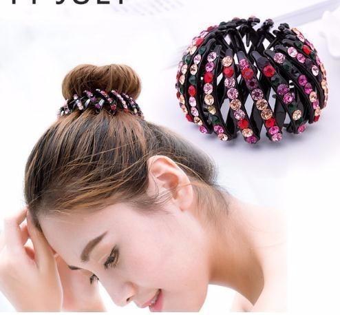 Korean Fashion Bird Nest Plastic Band For Women Tail Claws Bun Maker Holder Donut Gum Girls Hair Accessories Wedding Hair Accessories Hair Accessories