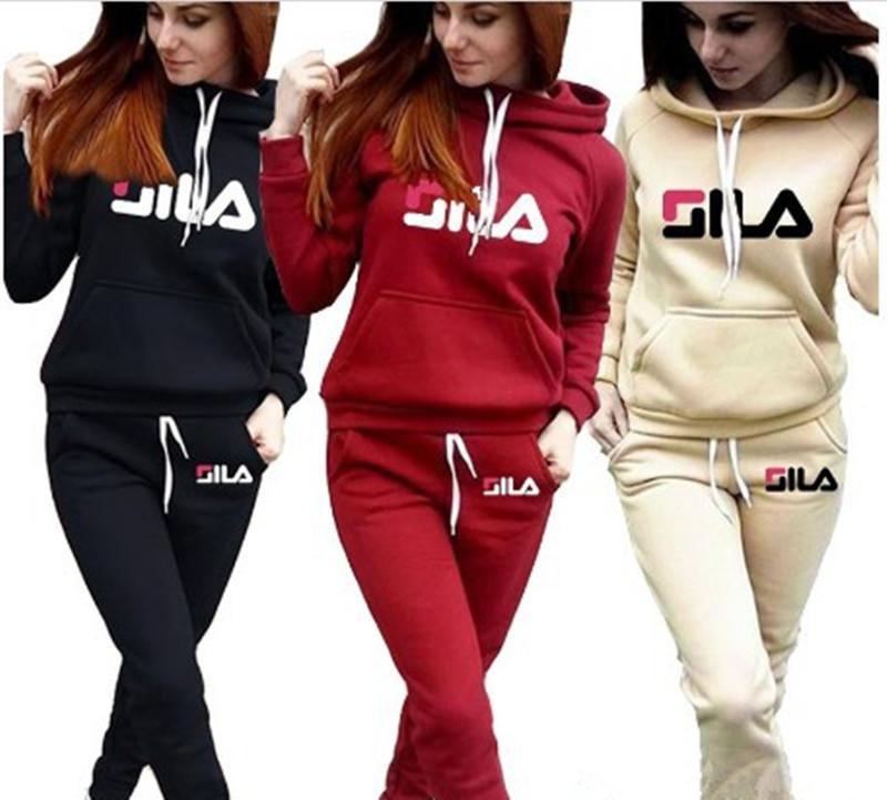 Women/'s Tracksuit Hooded Pullover+Sport Pants 2 Piece Suit Casual  Sweatsuits