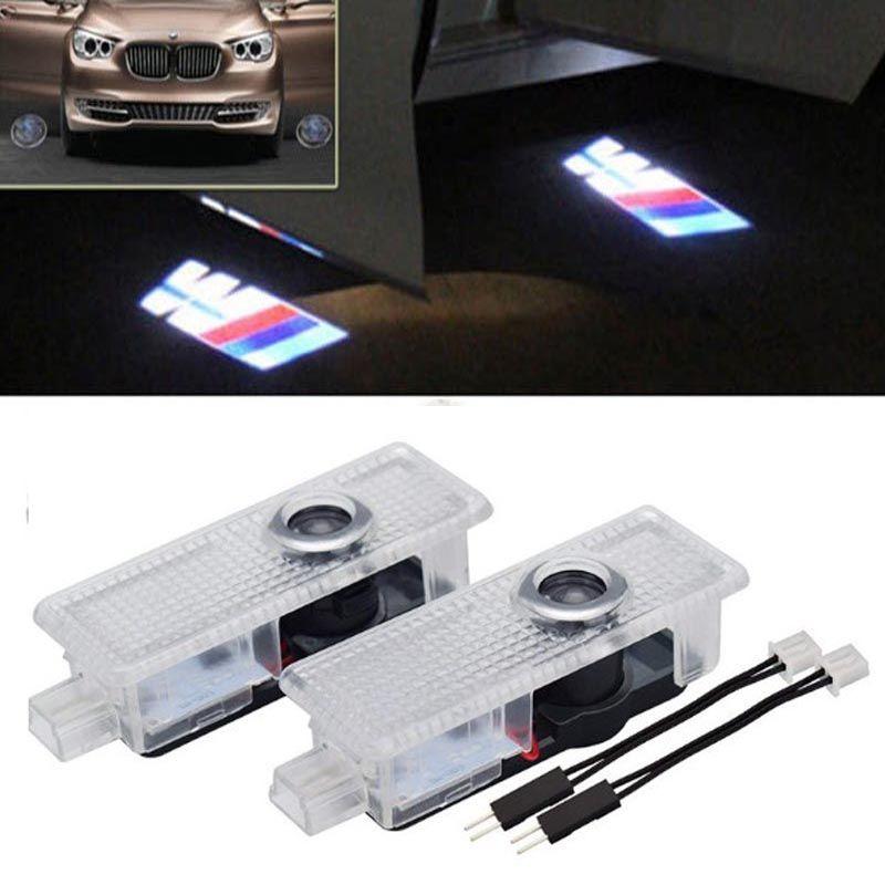 BMW M E60 M5 E90 F10의 X5 X3의 X6의 X1 GT E85 M3에 오신 것을 환영합니다 문 라이트 레이저 그림자 유령 프로젝터 LED 자동차 도어 빛