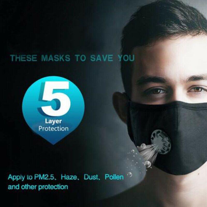 Máscaras anti-poeira máscaras anti poluição PM2.5 cara com a respiração Válvulas de Mulheres Homens J8
