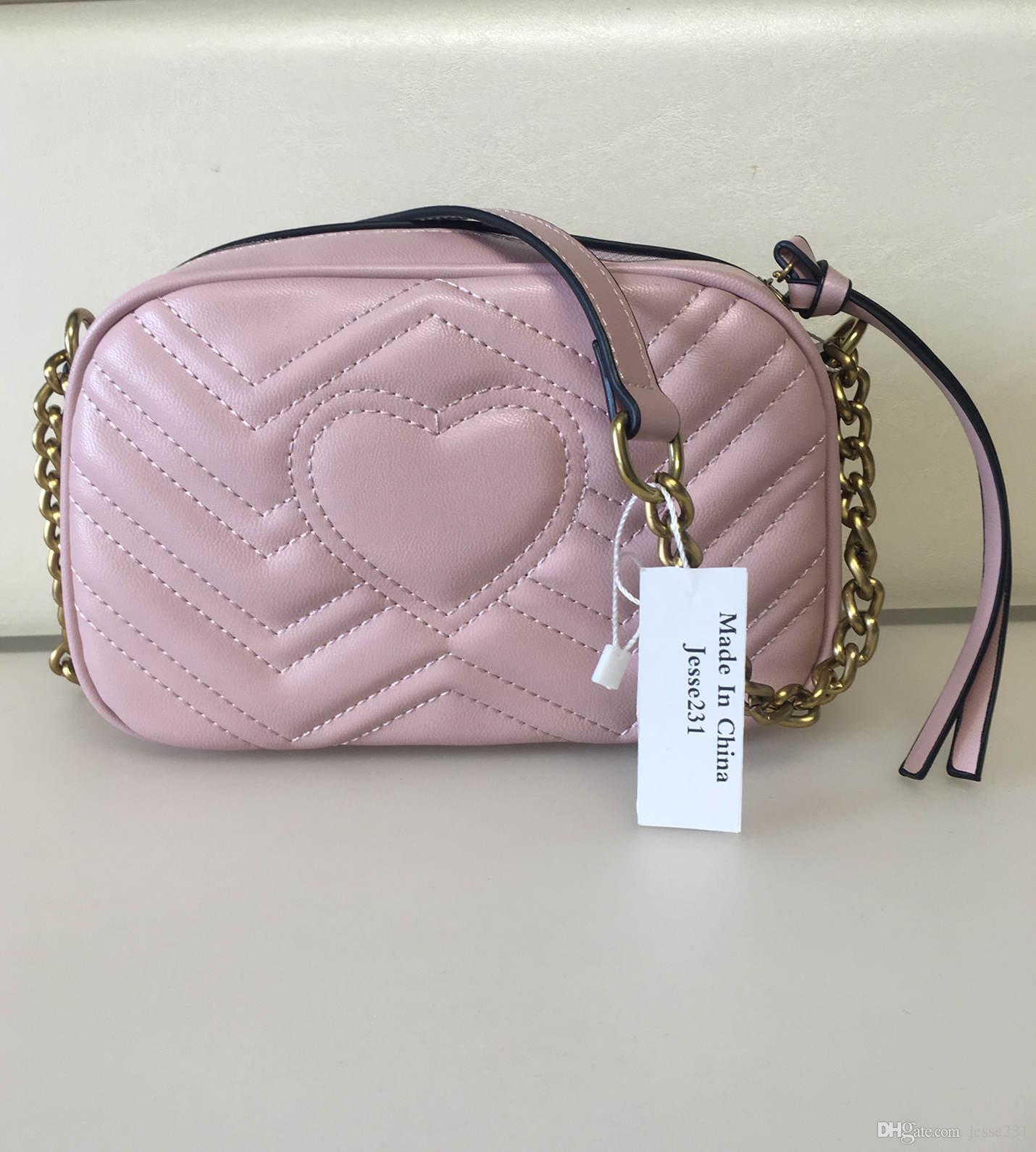 Alta calidad nueva de las mujeres oro de los bolsos de hombro de la cadena bolsas Crossbody Bolsa Soho Disco bolsa de mensajero de la cartera del monedero 5 colores