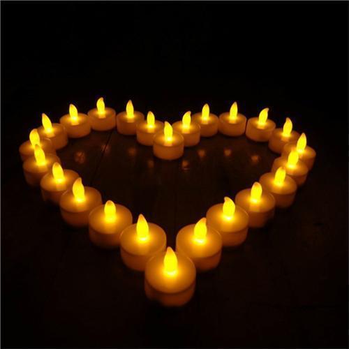 12 Pcs / embalar Flickering LED Flameless Velinha 3.7 * 4 centímetros Flicker Partido Luz da vela do chá do casamento do Natal Candels Segurança Decoração