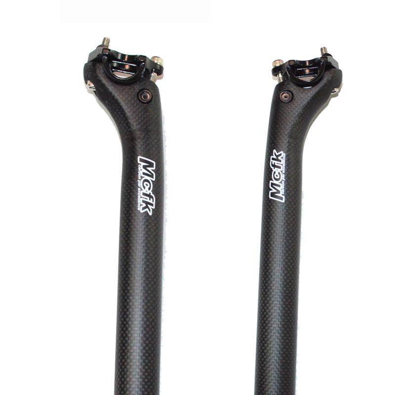 MCFK fibra de carbono de bicicletas de estrada do apoio do assento da bicicleta mtb compensar selim 20 milímetros 3K carbono ciclismo partes 27,2 30,8 31,6 milímetros 350 400 450 milímetros de comprimento