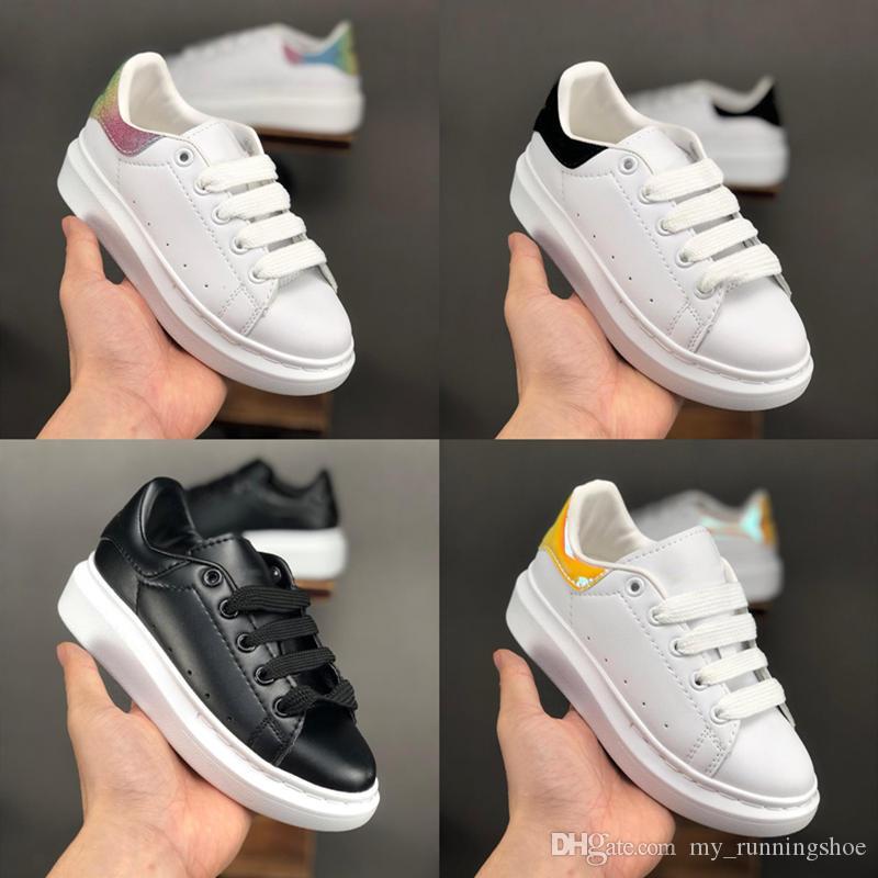 19SS Big Souliers d'enfants pour les enfants Enfants Garçons Filles Formateurs Fashion Designer de luxe Chaussures de sport en plein air chaussures enfant en bas âge Taille 24-35
