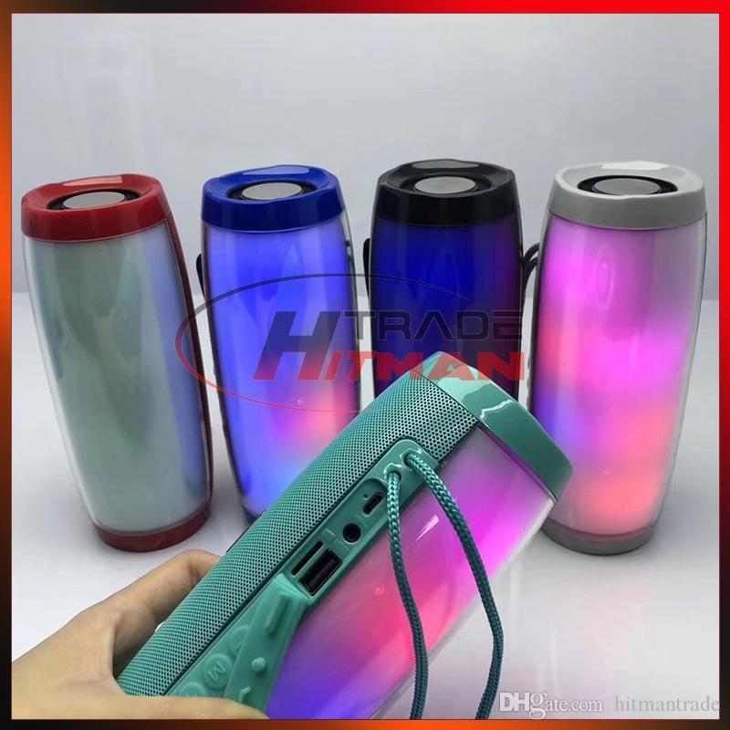TG157 Portable LED Lamp Speaker Waterproof FM Radio Wireless Boombox Mini Column Subwoofer Sound Box Mp3 USB TV Sound Bar