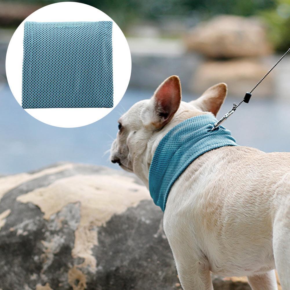 Verano mascotas manguito de refrigeración del gato del perro bufanda de cuello triangular hielo Toalla Evitar un golpe de calor de refrigeración Suministros para mascotas cuello