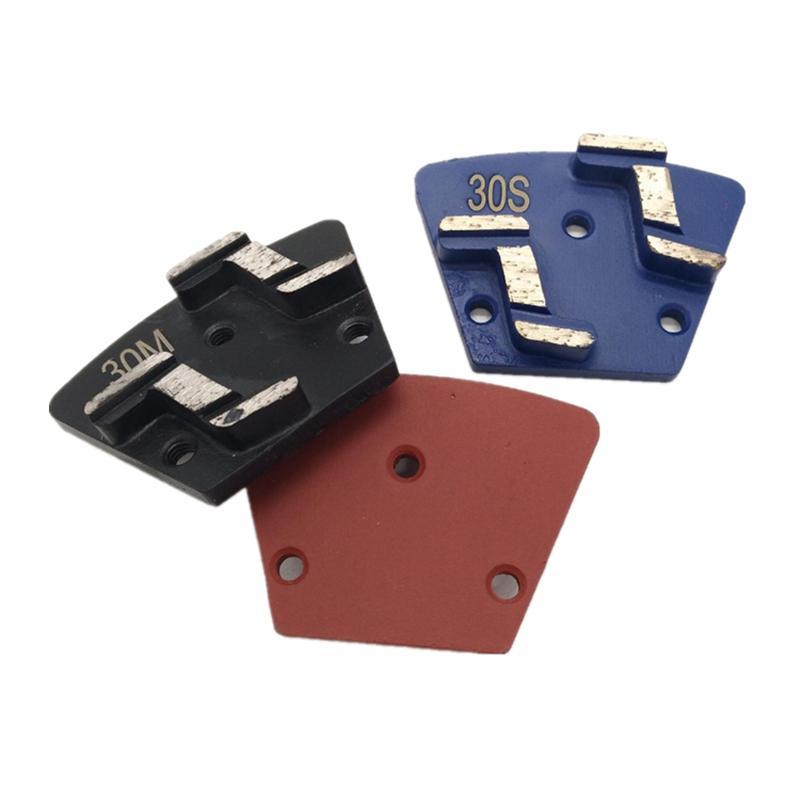 New Design Trapezoid Grinding Disc Double Z Shape Segments Grinding Shoes Diamond Polishing Pads for Concrete Floor 12PCS