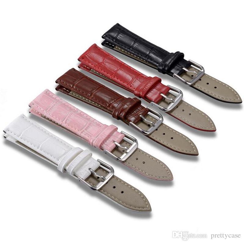 Кожа смотреть Bands Классическая натуральная кожа Ремешки водонепроницаемый браслет для мужчин и женщин 14 мм 16 мм 18 мм 20 мм