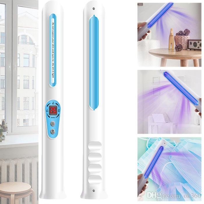 Bactérias viajar Esterilizador UV Ultraviolet Sterilizer Portable Light UV desinfecção lâmpada UV-C germicida lâmpada matar por Hotel Home Office