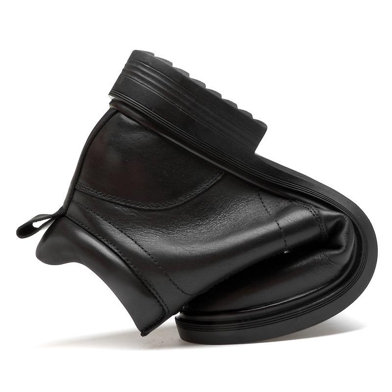 Nuevos hombres botas de moto hecha a mano de cuero genuino del ala visita de la boda Botas Casual estilo británico Vino Rojo Botas 8111