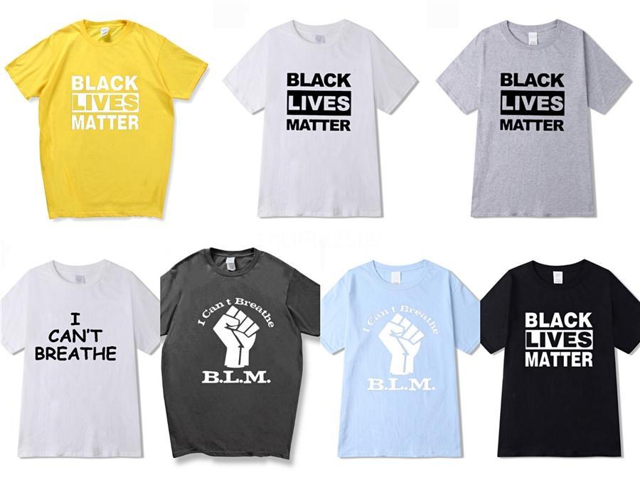 Eu não posso respirar! Moda casual t shirt Homens Streetwear Designer de Luxo de T para homens camisetas Carta Bordados Homens Tops manga curta # 84