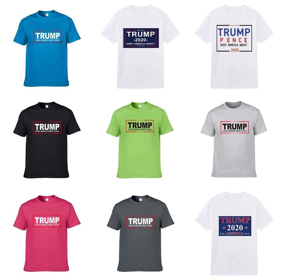 2020 New Stattliche Herren Designer Trump T-Shirt Schwarzweiß-Mode Druck Breathable Männer Trump T-Shirt Jacke Kurzarm Shrink-Pro