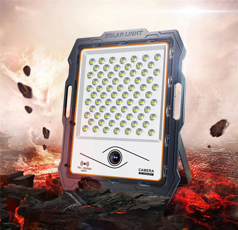 High Quality 400W Outdoor Camping Security Solar Flood Light Wall Lamp Home Garden 1080P HD Wifi CCTV Camera with 32GB