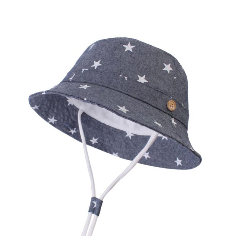 2020 Baby Kids Soft Cotton Sun Hat Kids Summer Bucket Hat Denim ...
