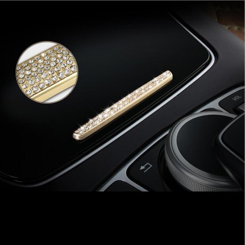 메르세데스 벤츠 C E S 클래스 GLC W205 W213를위한 자동차 센터 콘솔의 기어 시프트 상자 장식 조각 물 컵 홀더 커버 트림 스트립