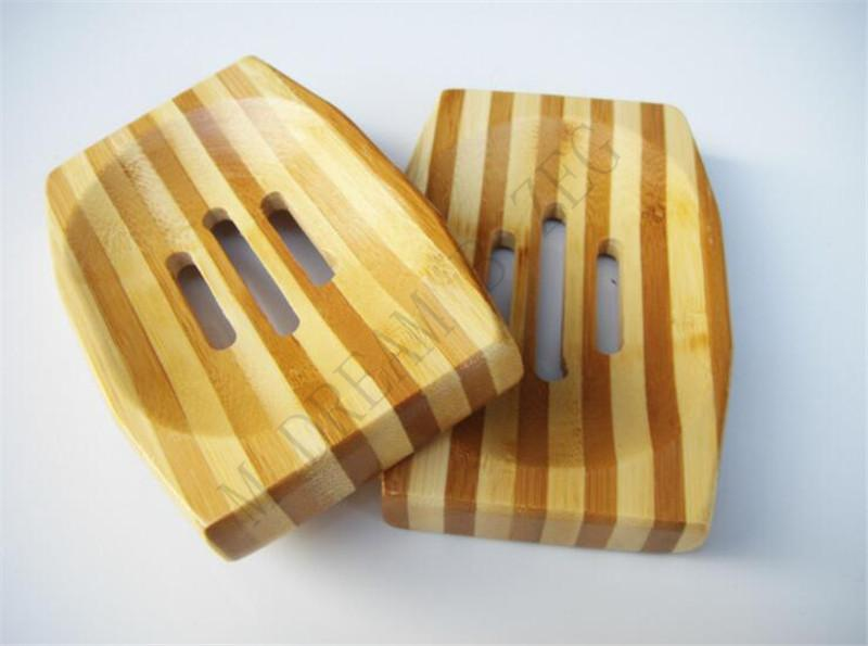 Banyo Duş Banyo için farklı tasarım Doğal Bambu Ahşap Sabunluk Ahşap Sabun Tepsi Tutucu Depolama Sabun Raf Plakalı Kutusu Konteyner