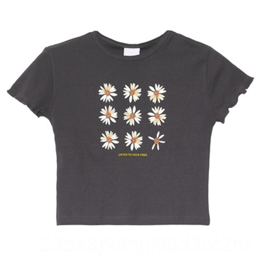 Kurzärmlig Frauen 2020 populäres dünne Nische Design hoch tailliertes T-Shirt kurz ins Mode Kurzarm-Frauen 2020 Jacke populäre dünne Nische