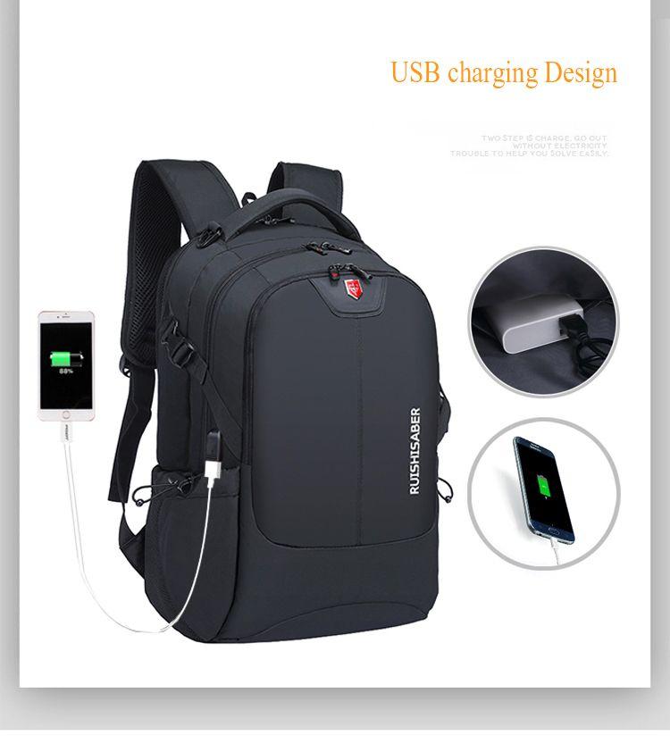 2020 New Fashion 17.3 inch Laptop Backpack Men Multifunctional Waterproof Backpacks Male USB Charging Travel Backpack MochilaK1090G