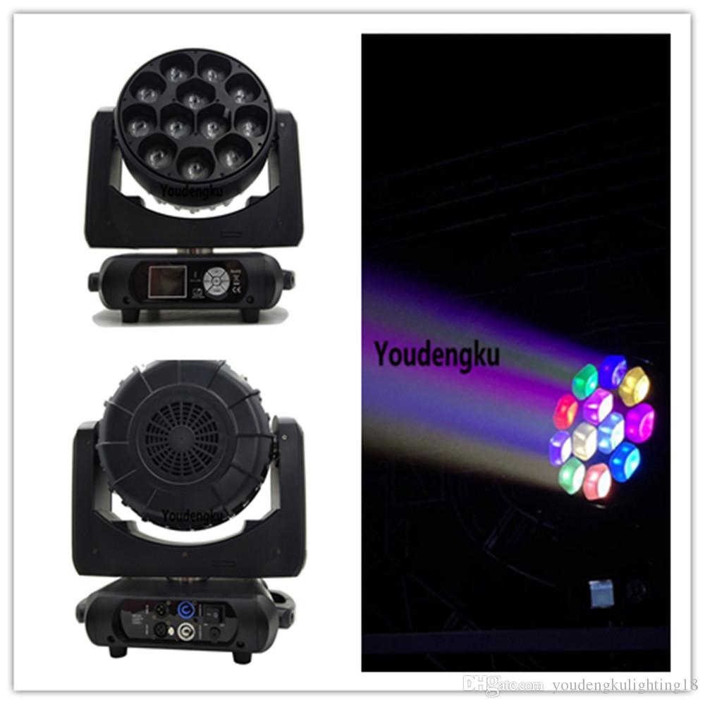 6 pieces 12X40w RGBW 4in1 LED Beam DJ Moving Head Light lyre wash beam moving head bee eye zoom led