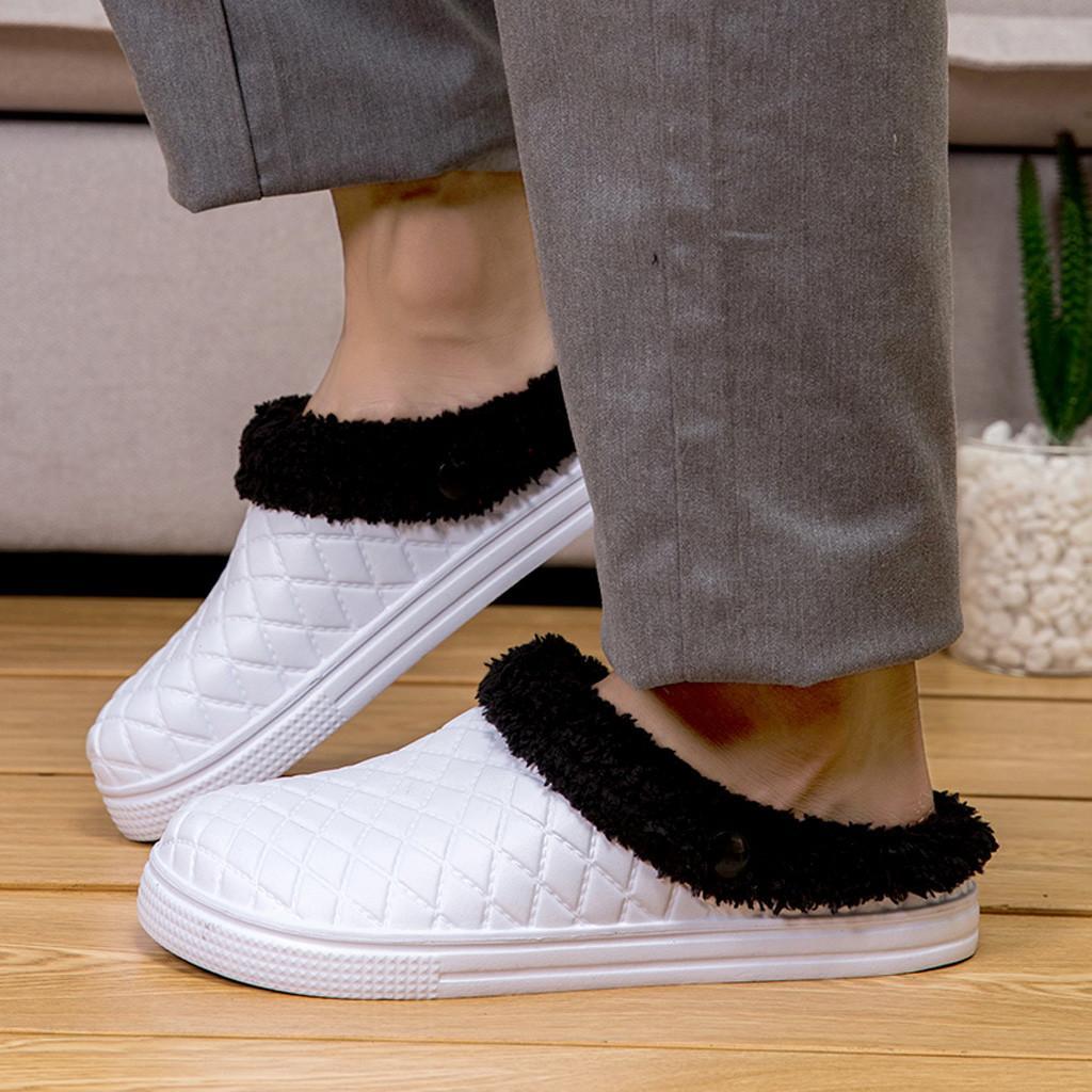 SAGACE пара тапочки мужчины большой размер Повседневная обувь мужчины главная плюс бархатная теплая обувь удобные хлопчатобумажные мягкие тапочки спальня 2019