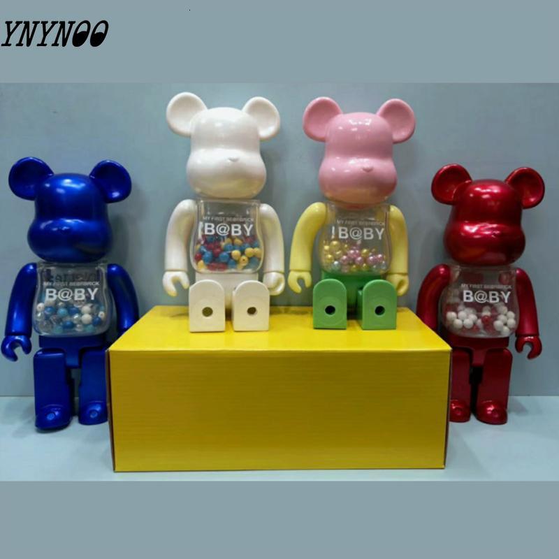 400 28CM٪ الدب الطوب رسالتي الأولى الطفل PVC عمل نموذج أرقام لعب الأطفال هدايا DIY الطلاء الدمى 4 أوامر ستايل