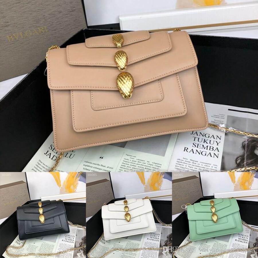 2020 Hot Sale Women bag Medium Chain Bag Ladies Leather Women Messenger Bags Handbags Women Famous Lock Bag Crossbody Bags Size 23cm