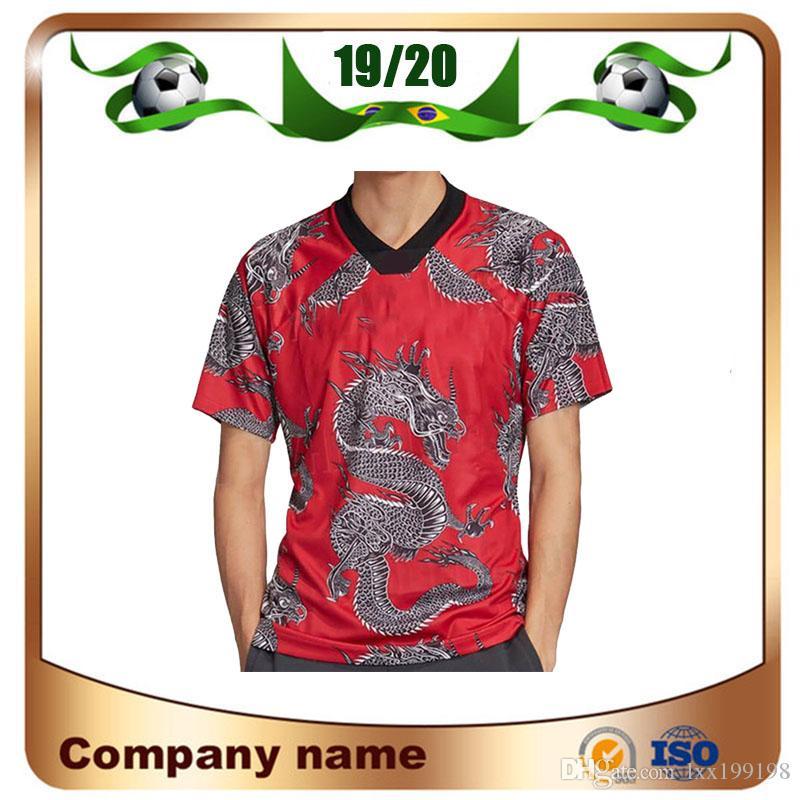 2020 Manchester Çin Yeni Yılı Çin Ejderha Special Edition Futbol Formalar kırmızı 19/20 RASHFORD Pogba Lingard MATA Maguire Futbol Gömlek un