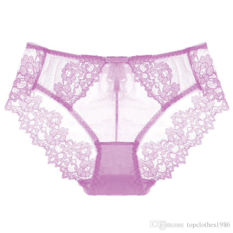 Kadın Külot lüks Seksi Külot Düşük bel Hollow şeffaf Bayanlar Için Seksi Dantel Külot külot Sexy lingerie 6 adet / paket