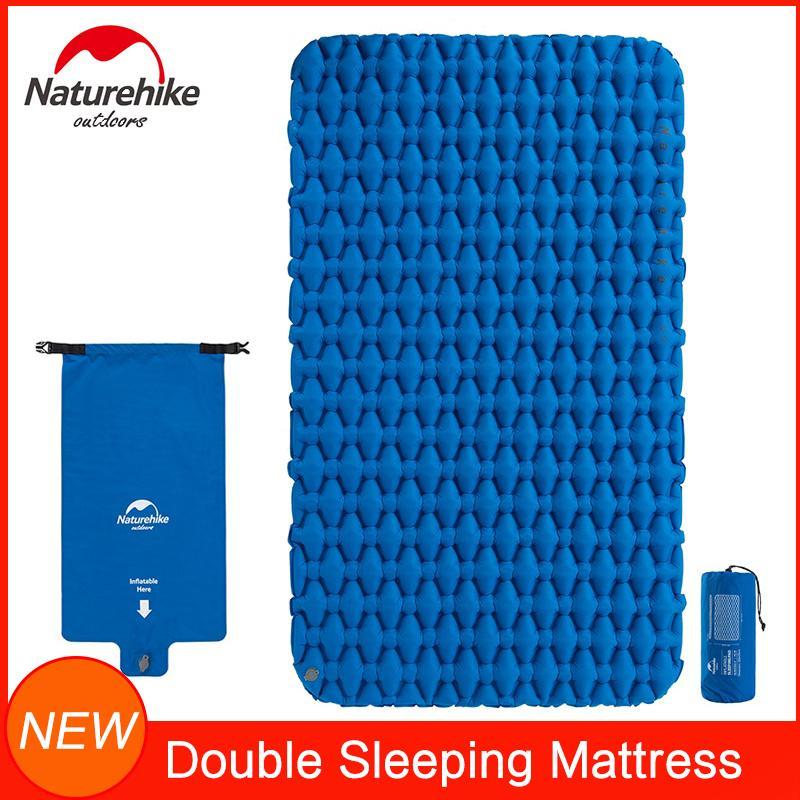 Naturehike inflável Camping Mat para Sleeping duplos dormir Pad Compact Lightweight Backpacking Colchão para Tenda