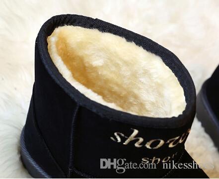Compre Botas De Nieve 2018 Nuevos Zapatos De Otoño E Invierno Para Mujer Zapatos De Pan Lindo Zapatos De Algodón Cálido Y Grueso Botas A $43.21 Del